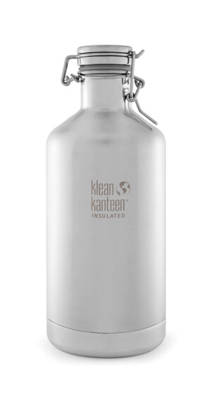 Klean Kanteen Classic Insulated Growler Swing Lok Cap 1900ml brushed stainless